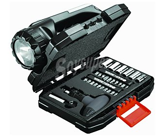 BLACK & DECKER Lote de 35 accesorios, carraca, linterna y chaleco 1 Unidad