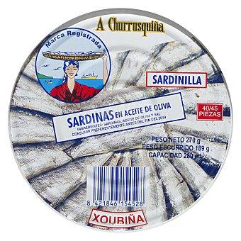 A Churrusquiña Sardinillas en aceite de oliva Lata 180 g (neto escurrido)