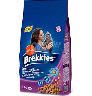 Brekkies Affinity Alim. gatos EX. esterilizados 1.5 KGS