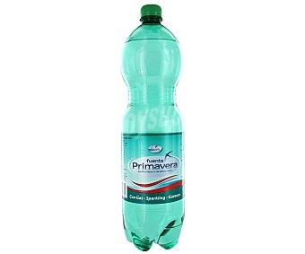 Fuente Primavera Agua mineral con gas Botella de 1,5 litros