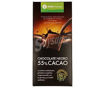 Intermón Oxfam Chocolate negro 55% cacao biológico 100 gramos