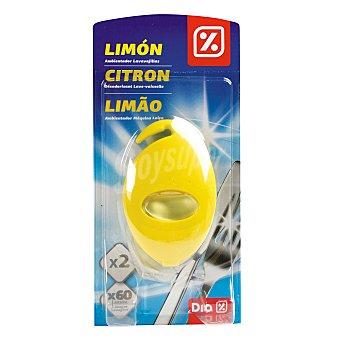 DIA Ambientador para máquina lavavajillas aroma limón paquete 2 ud ud