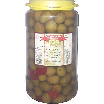 CONCEPCION DE LOS REYES Aceitunas gordal morada aliñadas Garrafa 1800 g neto escurrido