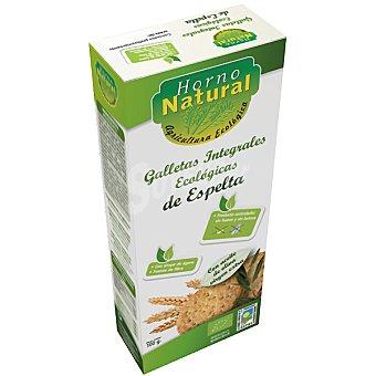 HORNO NATURAL Galletas integrales de espelta sin lactosa ecológicas Envase 100 g