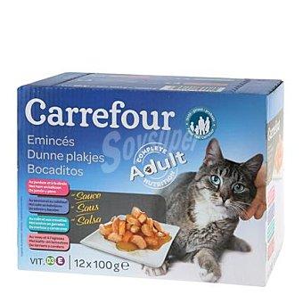 Carrefour Comida para gatos Pack 12x100 gr