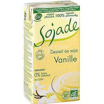 SOJADE Postre de soja sabor vainilla 100% vegetal ecológico y sin lactosa Envase 530 g
