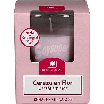 Cristalinas Ambientador vela aroma cerezo en flor 30 horas envase 1 unidad envase 1 unidad