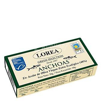 Lorea Filete de anchoa en aceite de oliva virgén extra ecológico 30 g
