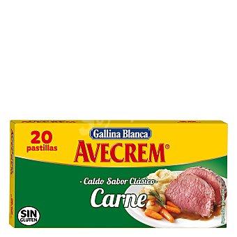 Gallina Blanca Caldo de carne sabor clásico sin gluten 20 pastillas Estuche 210 g