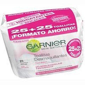 Skin Naturals Garnier Toallitas para piel seca-sensible Pack 2x25 unid