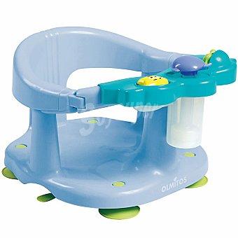 OLMITOS Asiento protector para baño con actividades en color azul