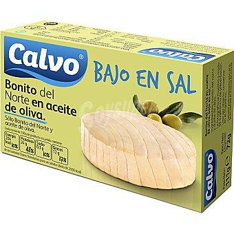 Calvo Bonito del norte en aceite oliva bajo en sal Lata 72 g neto escurrido