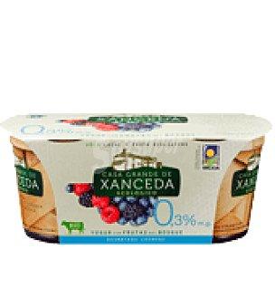 Casa Grande de Xanceda Yogur cremoso ecológico desnatado con frutas del bosque Pack de 2x125 g