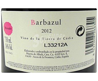 Barbazul Vino rosado de la tierra de Cádiz Botella de 75 centilitros