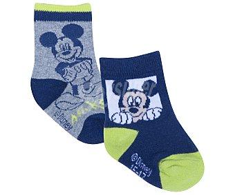Mickey Disney Lote de 2 pares de calcetines de bebé Mouse, color gris, talla 15 color gris, talla 15