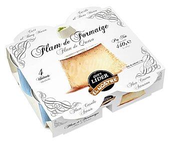 El Nostre Flan de queso cocido al baño Maria y elaborado sin gluten 4 x 110 g
