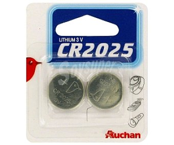 Auchan Pilas litio CR2025 2 unidades
