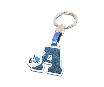 Abc parts Llavero letra A, color azul, Parts.