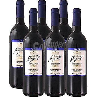PALACIO DE GRAJAL Vino tinto joven D.O. Ribera del Duero elaborado para grupo El Corte Inglés caja 6 botellas 75 cl 6 botellas de 75 cl