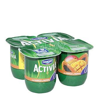 Activia Danone Activia 0% mango-papaya 4 unidades de 125 g