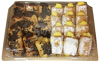 PASTISART Napolitana dulce mini horno Bandeja de 24 unidades
