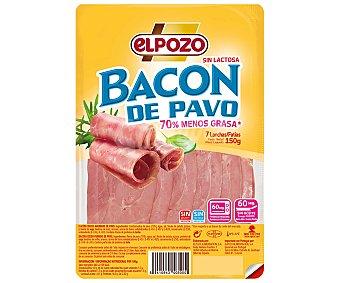 ElPozo Bacon de pavo, sin gluten y sin lactosa, cortado en lonchas 150 g