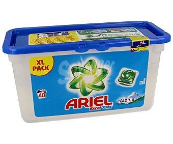 Ariel Detergente en cápsulas con gel líquido fragancia Alpine 40 cápsulas