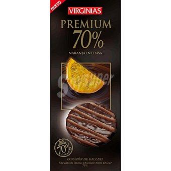 VIRGINIAS Premium Naranja intensa cubierta de chocolate con corazón de galleta Paquete 120 g