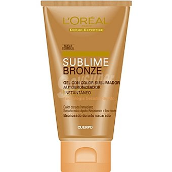Dermo Expertise L'Oréal Paris gel autobronceador Sublime Bronze con color sublimador instantáneo Tubo 150 ml