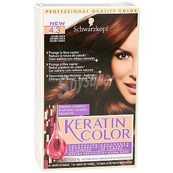 Keratin Color Schwarzkopf Tinte nº 4.3 castaño cereza coloracion permanente de cuidado Caja 1 ud
