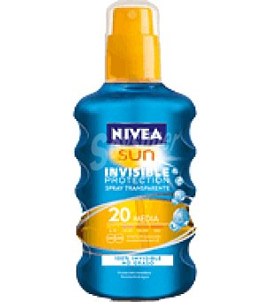 Nivea Sun Solar invisible factor de protección 20 Spray de 200 ml