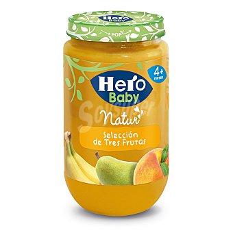 Hero Baby Tarrito selección de tres frutas Natur desde 4 meses  Envase 235 g