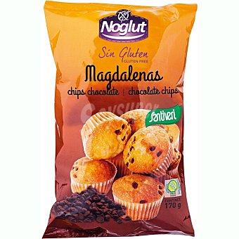 Santiveri Noglut Magdalenas con pepitas de chocolate sin gluten Envase 170 g