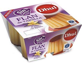 DHUL Flan de vainilla sin lactosa 4 unidades de 100 g