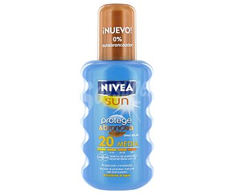 Nivea Fp 20 spray protect and bronce protección media 200 ML