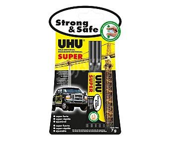 STRONG & SAFE Tubo flexible adhesivo extrafuerte 7g no gotea y no pega inmediatamente los dedos UHU Strong & safe
