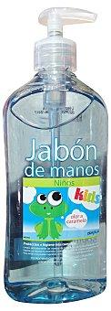 Deliplus Jabón manos líquido olor caramelo niños dosificador Botella 500 cc