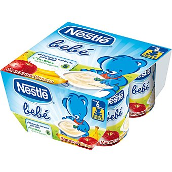 NESTLE BEBE Yogur multifrutas Pack 4 unds. 100 g