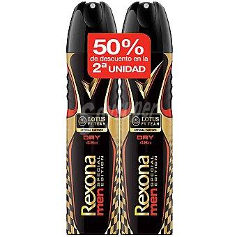 Rexona men desodorante Lotus precio especial 2ª unidad al 50% pack 2 spray 200 ml