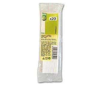 Productos Económicos Alcampo Cuchillos desechables fabricados en plástico blanco 20 unidades