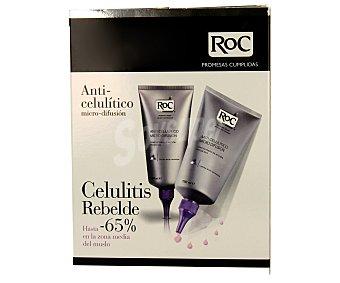 RoC Crema anticelulítica especial para la celulitis rebelde 2 unidades de 150 mililitros
