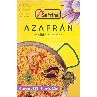 SAFRINA Azafrán molido superior 4 sobres de 0,125 g