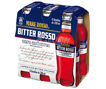 Mare Rosso Bitter sin azúcar y sin alcohol Pack 6 botellas x 20 cl