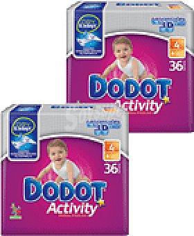 Dodot Pañal Dodot Activity T-4, 9-15 kg  Paquete 36 unidades