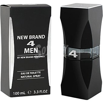 NEW BRAND 4 Men eau de toilette natural masculina spray 100 ml