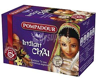 Pompadour Te Indian Chai Caja 20 sobres