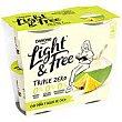 Yogur con piña y agua de coco Danone 460g 460 g Light & Free Danone