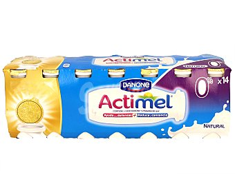 Actimel Danone Yogur Liquido Lactocasei Imunitass Natural Desnatado Pack 14 Unidades de 100 Gramos