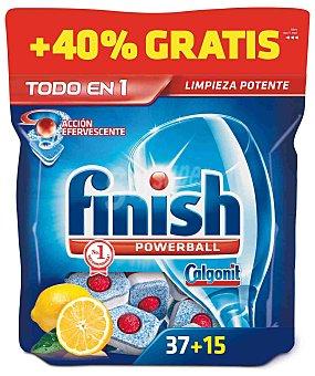 FINISH CALGONIT Lavavajillas Limón Todo en 1 37+15 Dosis