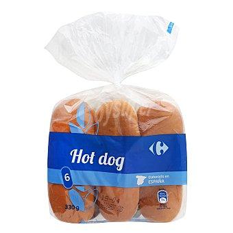 Carrefour Panecillos para perritos calientes Carrefour 330 g